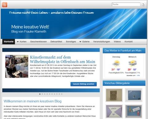 WordPress-Seite Fraukes kreative Bastellwelt