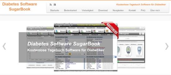 WordPress-Seite Diabetes Software SugarBook