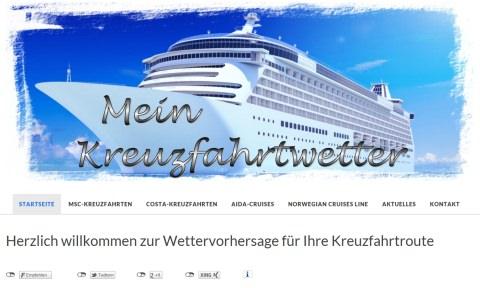 WordPress-Seite Mein Kreuzfahrtwetter
