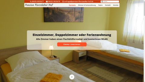 Pensionsseite Florstaedter Hof